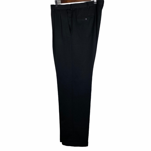 Haggar Other - Haggar Mens Black Pleated Front Dress Pants Cuffed